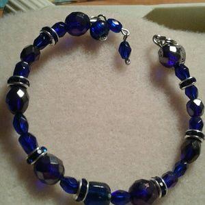 Jewelry - A sappire crystal birthstone memory wire bracelet